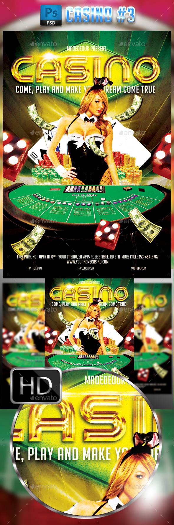 GraphicRiver Casino Flyer Template #3 9196939