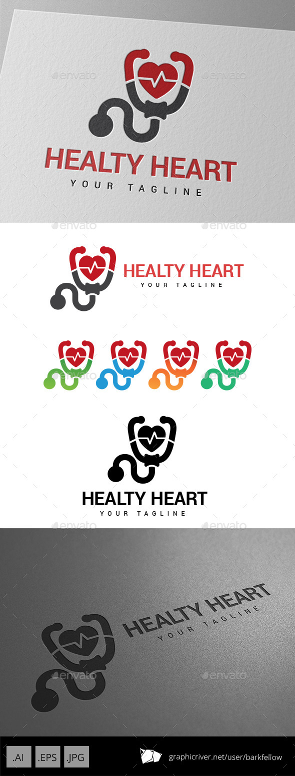 GraphicRiver Healthy Heart Logo 9196988