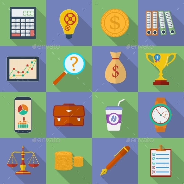 GraphicRiver Business Icon Set 9197000