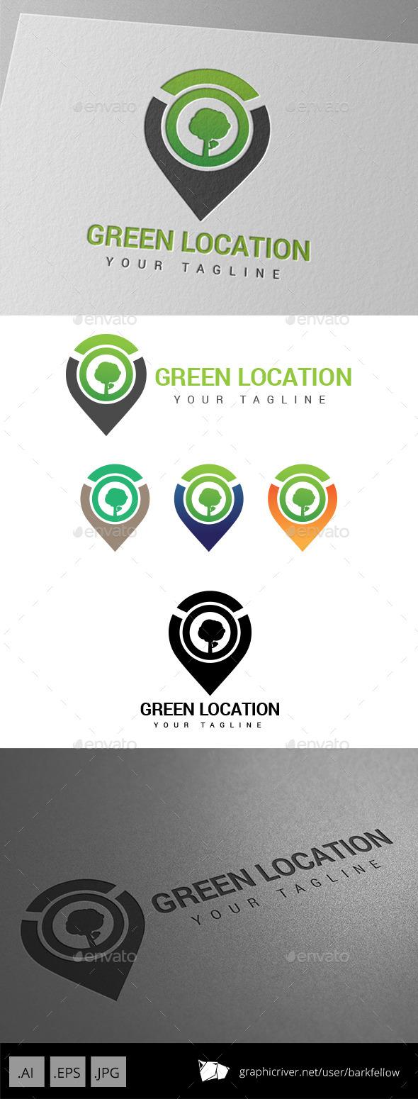 GraphicRiver Green Eco Location Logo 9197037