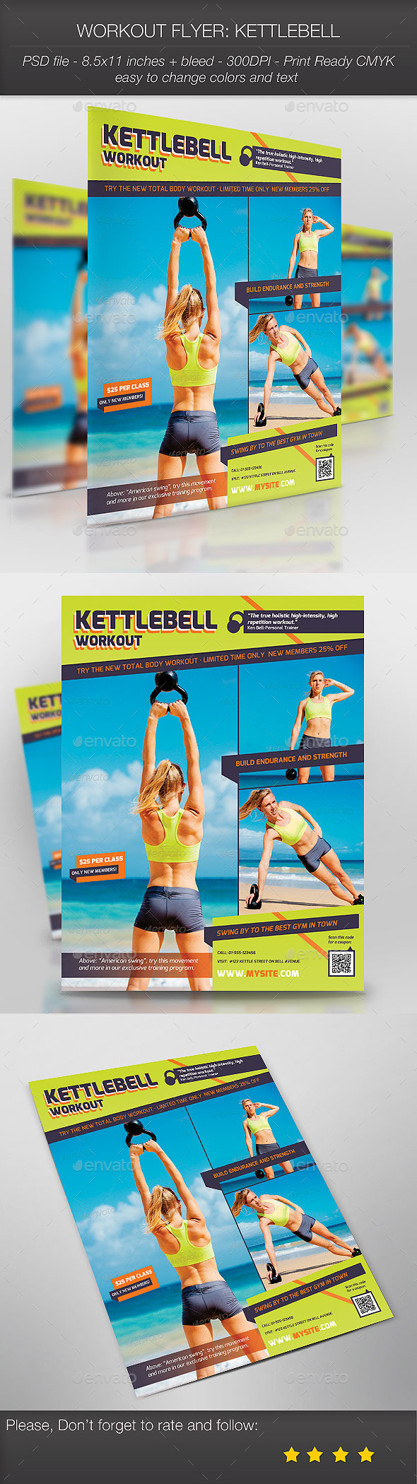 GraphicRiver Workout Flyer Kettlebell 9197240