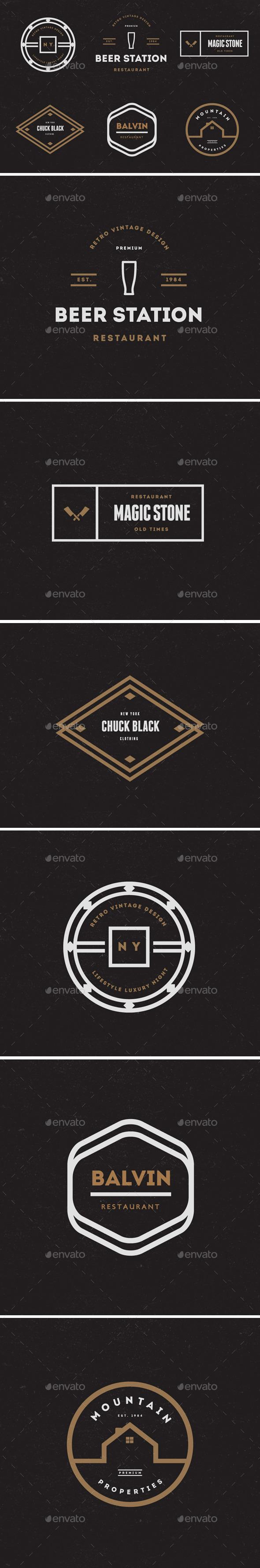 GraphicRiver Vintage Labels & Badges Logos V20 9197279