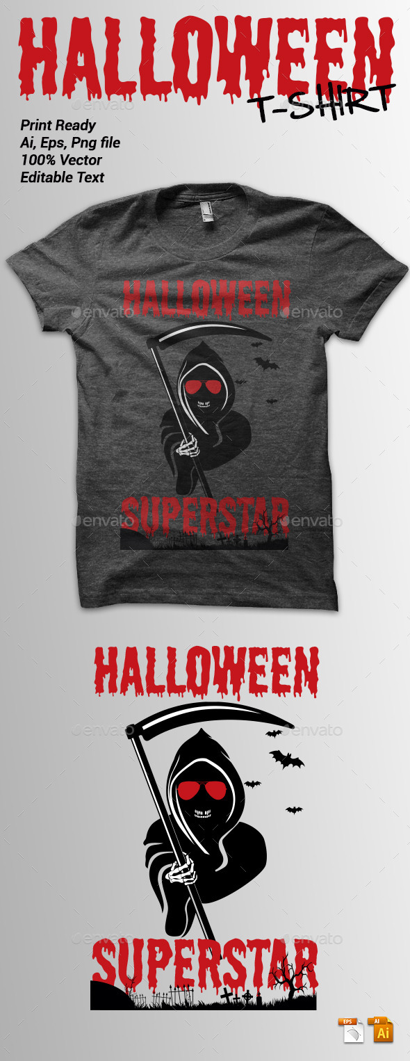 GraphicRiver Halloween Superstar Tshirt 9177428
