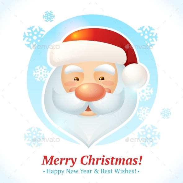 GraphicRiver Christmas Santa Card 9197427