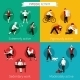 Physical Activity Flat Set - GraphicRiver Item for Sale