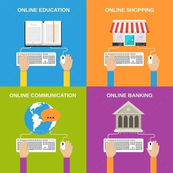 GraphicRiver Online Service Concepts 9197452