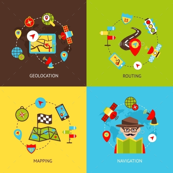 GraphicRiver Navigation Icons Set 9197458