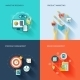 Marketers Flat Icons Set - GraphicRiver Item for Sale