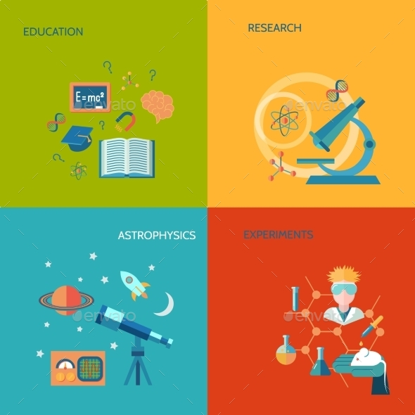 GraphicRiver Science and Research Flat 9197463