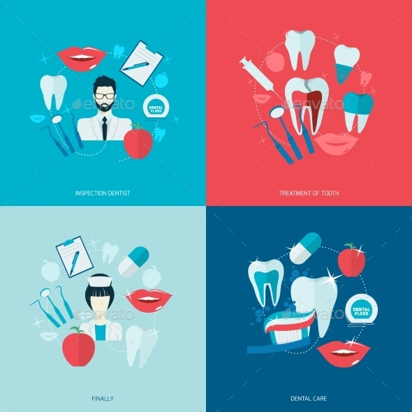 GraphicRiver Teeth Icons Flat 9197464