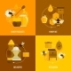Bee Honey Icons Flat - GraphicRiver Item for Sale