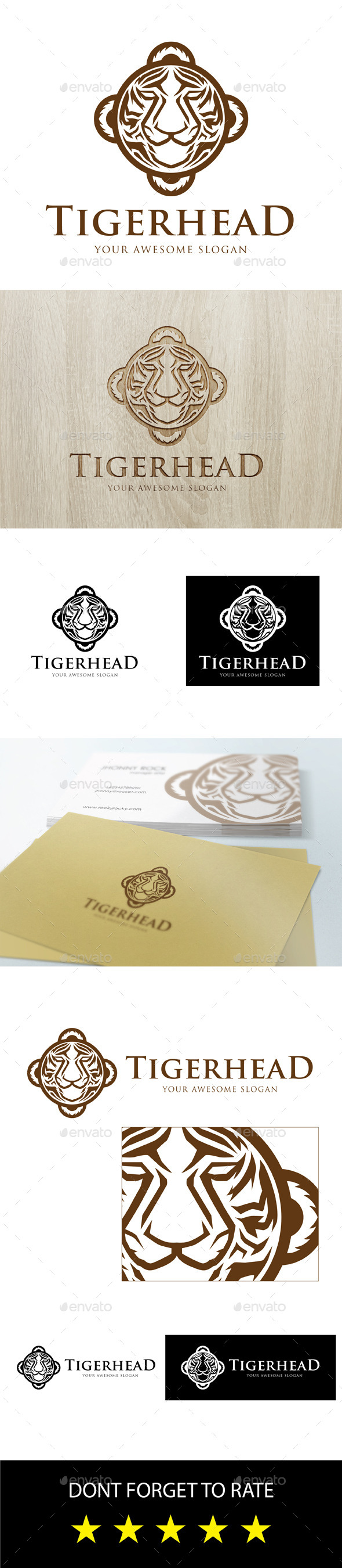 GraphicRiver Tiger Head Logo 9197520