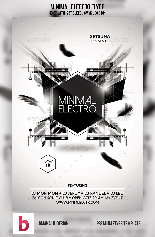 GraphicRiver Minimal Electro Flyer 9197601