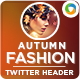 Autumn Fashion Twitter Header - GraphicRiver Item for Sale