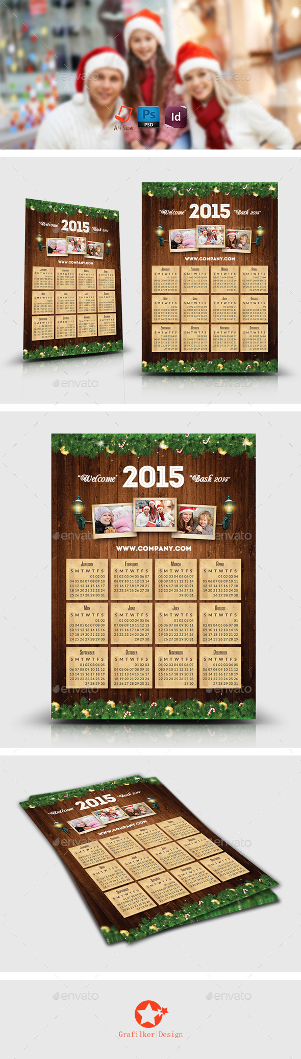 GraphicRiver Christmas Calendar Templates 9197632