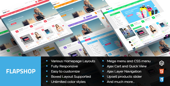 Flapshop - Multipurpose Responsive Magento Theme - Shopping Magento