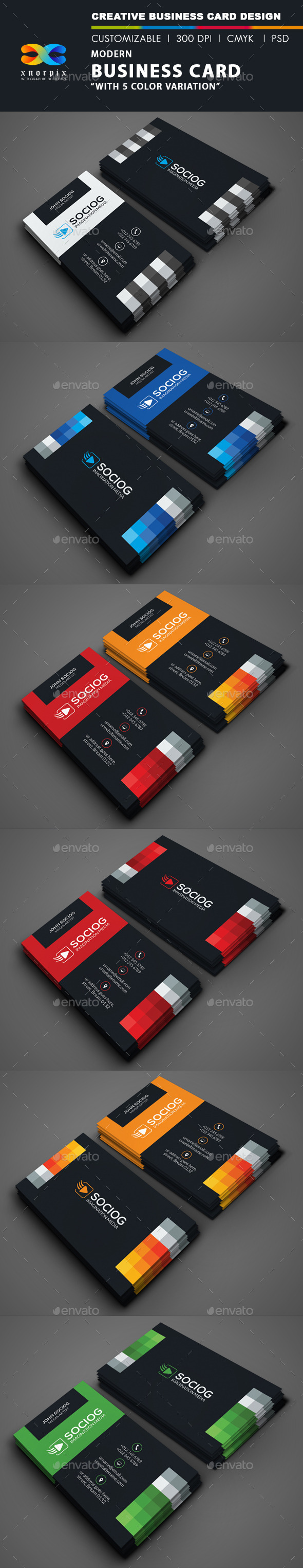 GraphicRiver Modern Business Card 9197833
