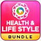 Health & Lifestyle Banners Bundle - 4 Sets - GraphicRiver Item for Sale