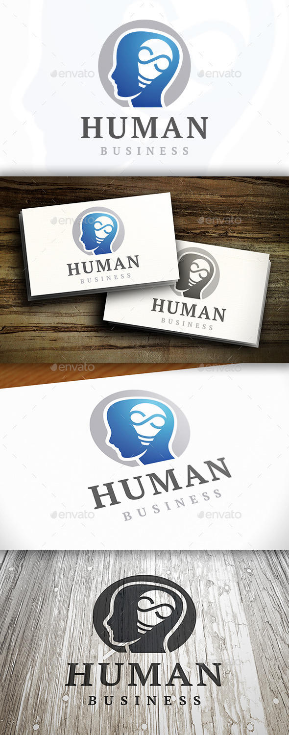 GraphicRiver Human Idea Logo 9198085