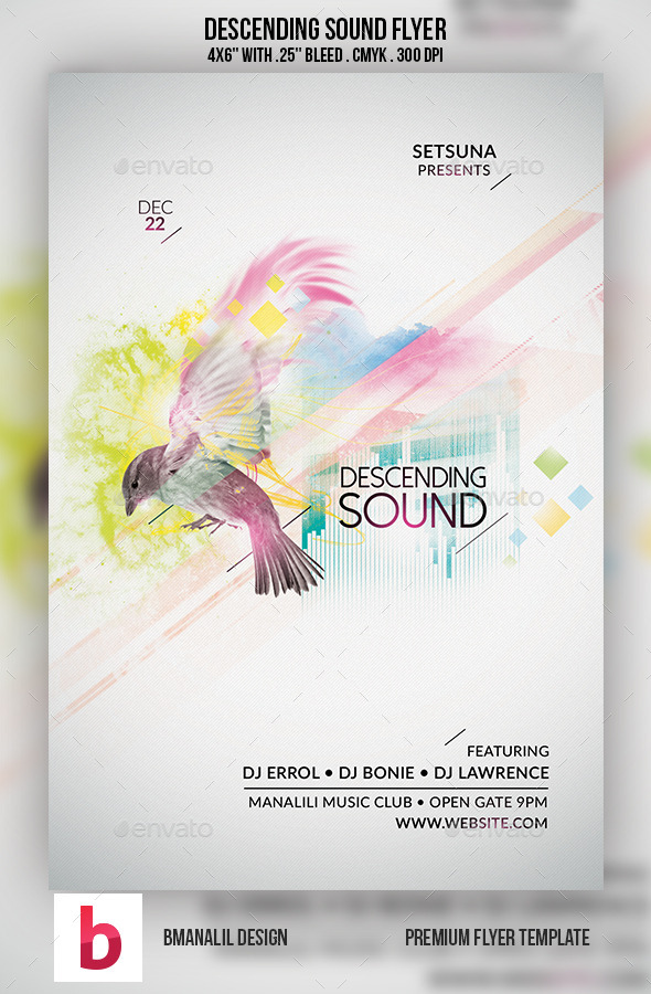 GraphicRiver Descending Sound Flyer 9198093