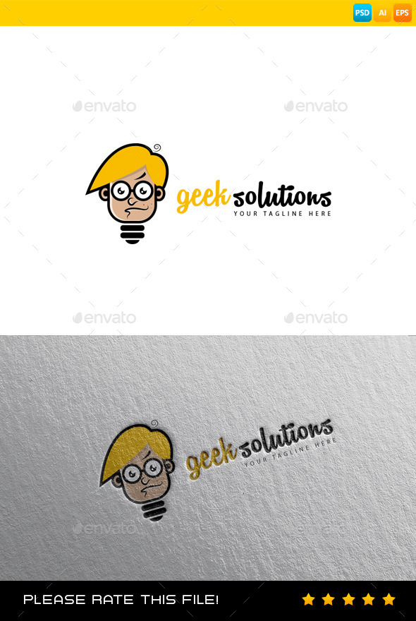 GraphicRiver Geek Solutions Logo 9198199
