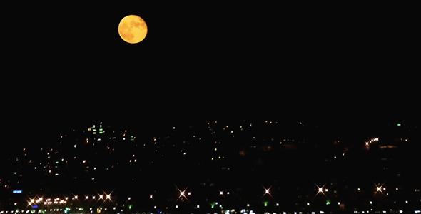 Full Moon and City Traffic