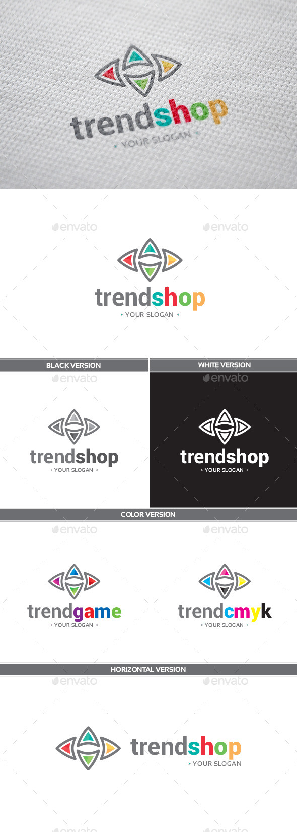 GraphicRiver TrendShop Logo 9198427