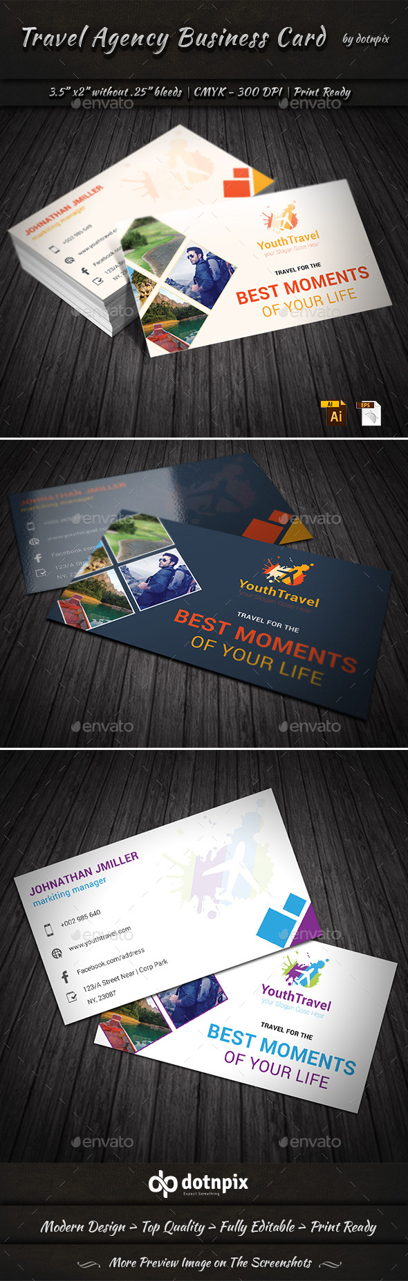 GraphicRiver Travel Agency Business Card 9198433
