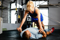 Young woman in a push-up session - PhotoDune Item for Sale