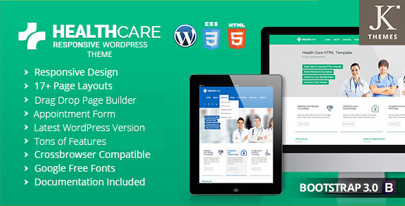 ThemeForest Health Care Responsive Health WordPress Theme 9030387