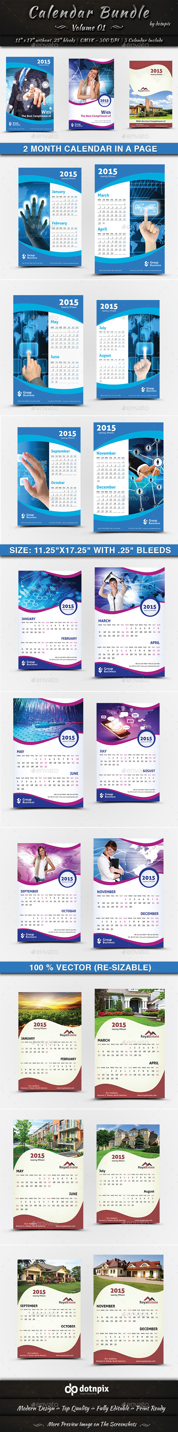 GraphicRiver Calendar Bundle Volume 1 9198894
