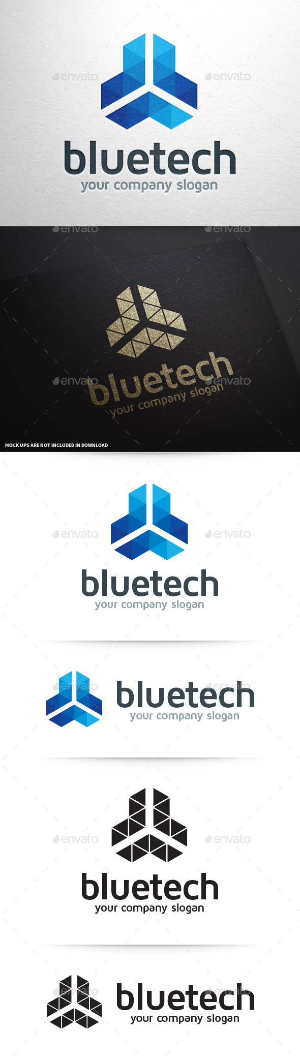 GraphicRiver Blue Tech Logo Template 9198901