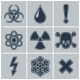 Icon Set of Warning Symbols - GraphicRiver Item for Sale