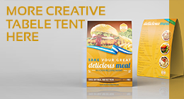 Cafe and Restaurant Table Tent Vol.6
