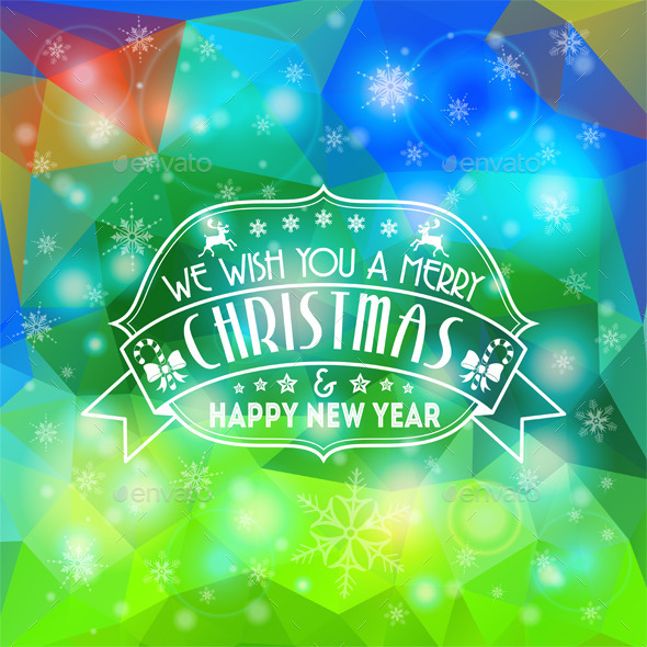 GraphicRiver Christmas Mosaic Pattern 9199061