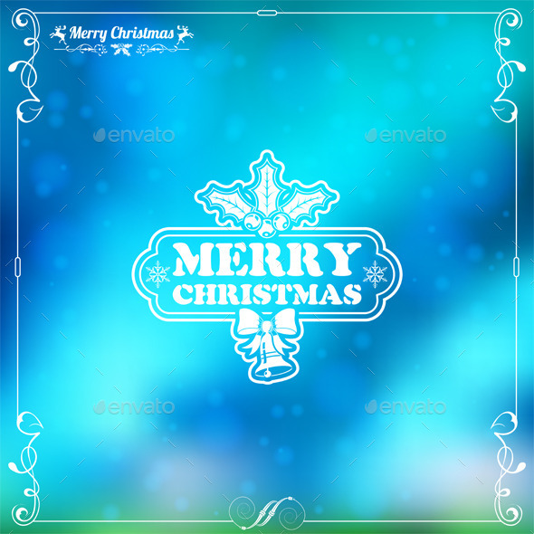 GraphicRiver Retro Christmas Frame 9199074