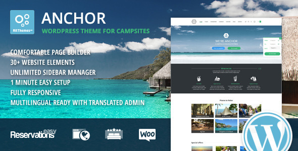Anchor WP Theme with Reservation System