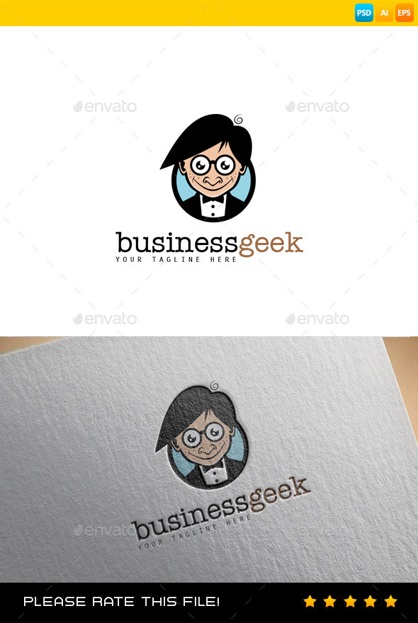 GraphicRiver Geek Logo 9199121
