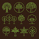 Vector Organic Tree Icons - GraphicRiver Item for Sale