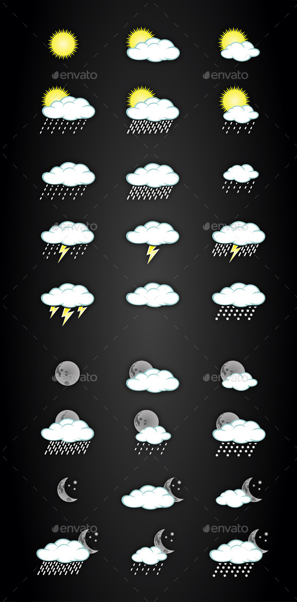 GraphicRiver Weather Icons 9173681
