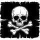 Skull and Crossbones over Black Flag - GraphicRiver Item for Sale