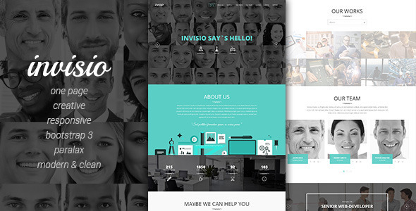 ThemeForest Invisio Business Creative Onepage Template 9164787