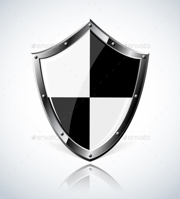 GraphicRiver Silver Shield with Reflection 9199373