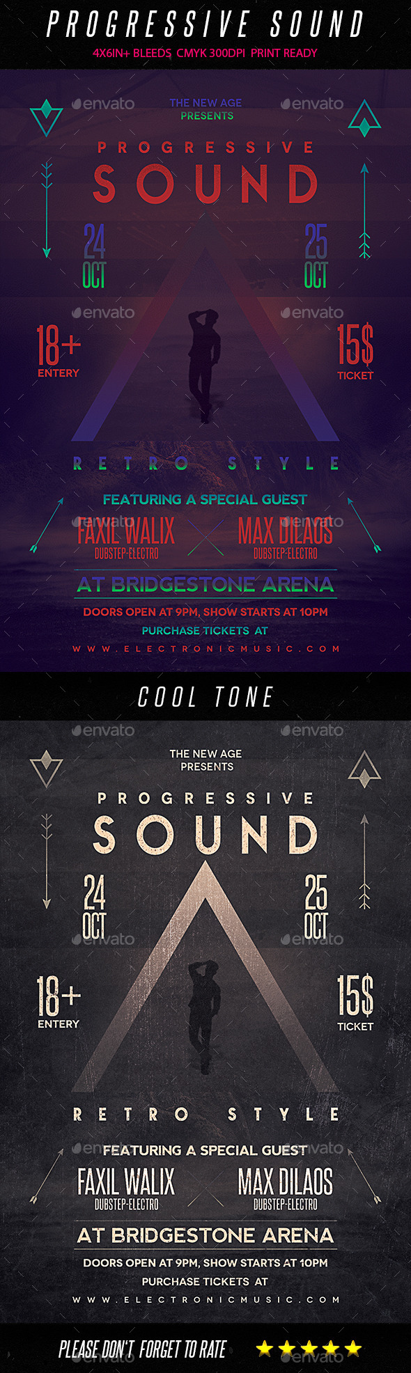 GraphicRiver Progressive Sound Retro Style Flyer 9199381