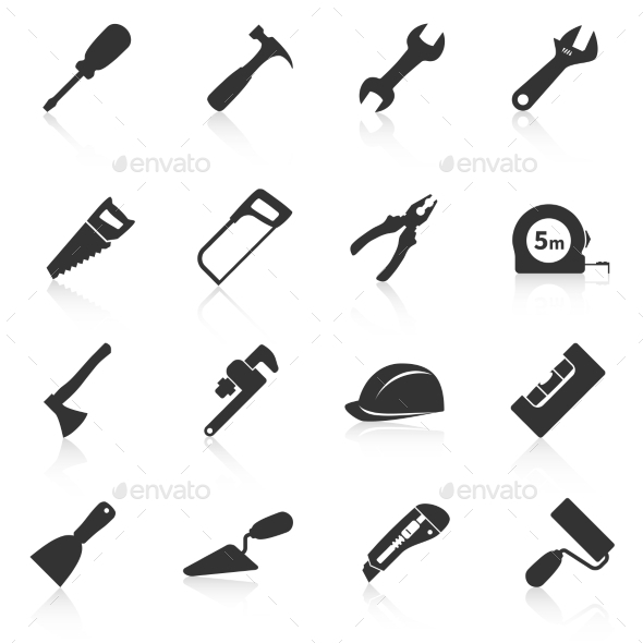 GraphicRiver Set of Construction Tools Icons 9200001