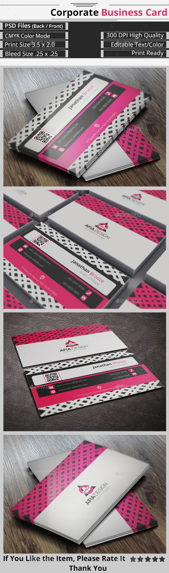 GraphicRiver Clean & Creative Corporate Business Card 9200010