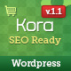 Kora Premium WordPress Theme - ThemeForest Item for Sale