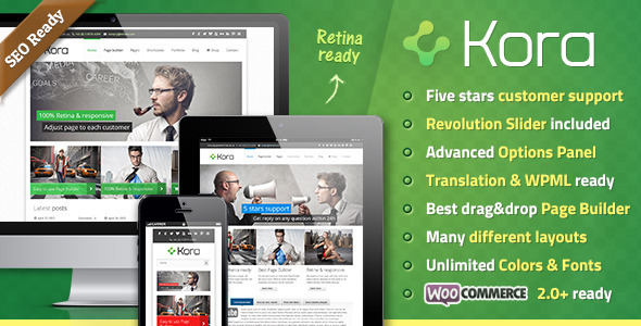 Kora Premium WordPress Theme - Business Corporate