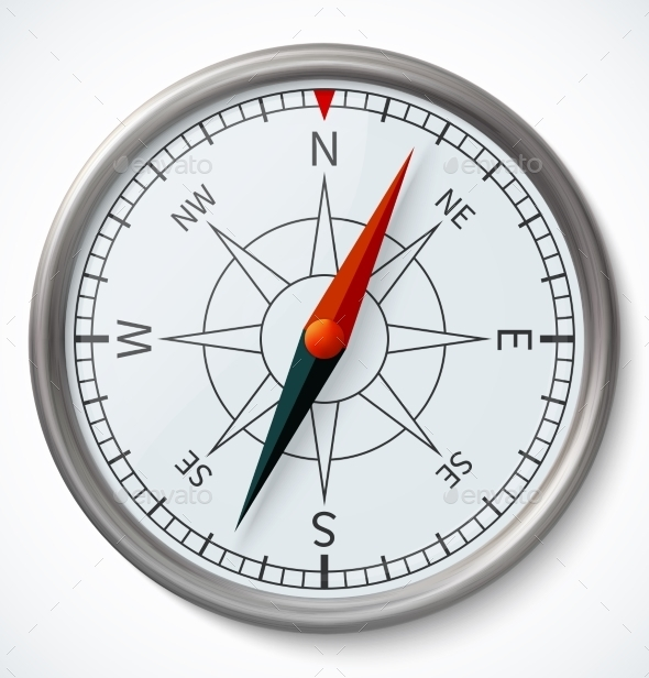 GraphicRiver Compass Isolated on a White Background 9200220
