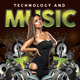 Futuristic Music And Technology Party - GraphicRiver Item for Sale